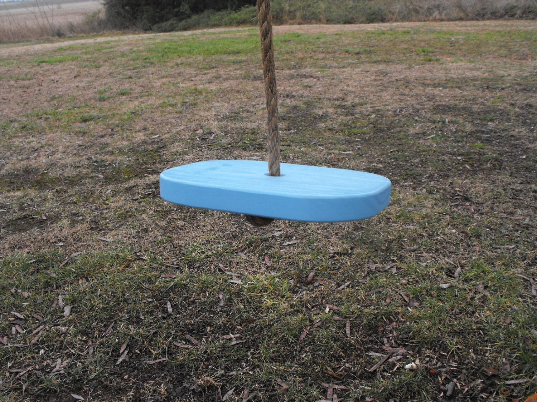 childs single rope disc tree swing children adult by quarrydesigns. Black Bedroom Furniture Sets. Home Design Ideas