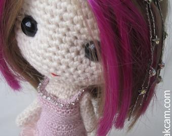 PDF Crochet Evening Gown Pattern for Deniz Doll