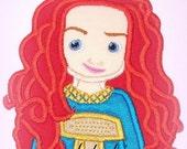 Scottish Animators Doll Applique Embroidery Design