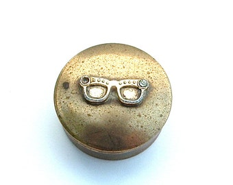 Vintage Pill Box Eye Glass Mini Container Organization Purse Clutch