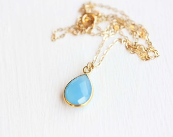 Gemstone Drop Necklace - You Choose the Color