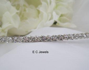 Bridal Rhinestone Studded Headband / Tiara