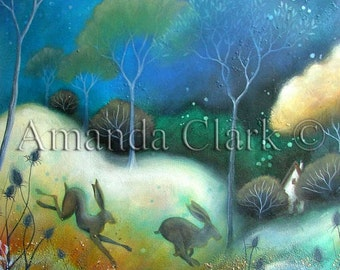 Between.  An art print by Amanda Clark.