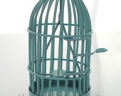 LARGE Bird Cage Pendant Focal Charm with Opening Door and Swinging Perch - 28mm x 50mm