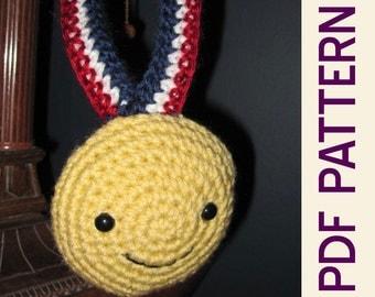 Little Olympian Amigurumi Crochet Olympic Gold Medal pattern