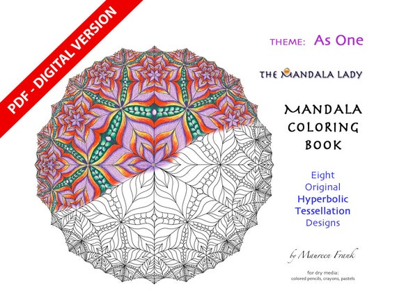 As One DIGITAL Mandala Coloring Book