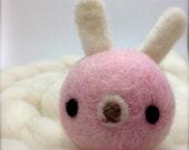 Sweetie Pie Needle Felted Amigurumi Bunny Rabbit