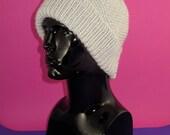 instant digital pdf download knitting pattern - Chunky Moss Stitch (see stitch) Beanie Hat pdf knitting pattern