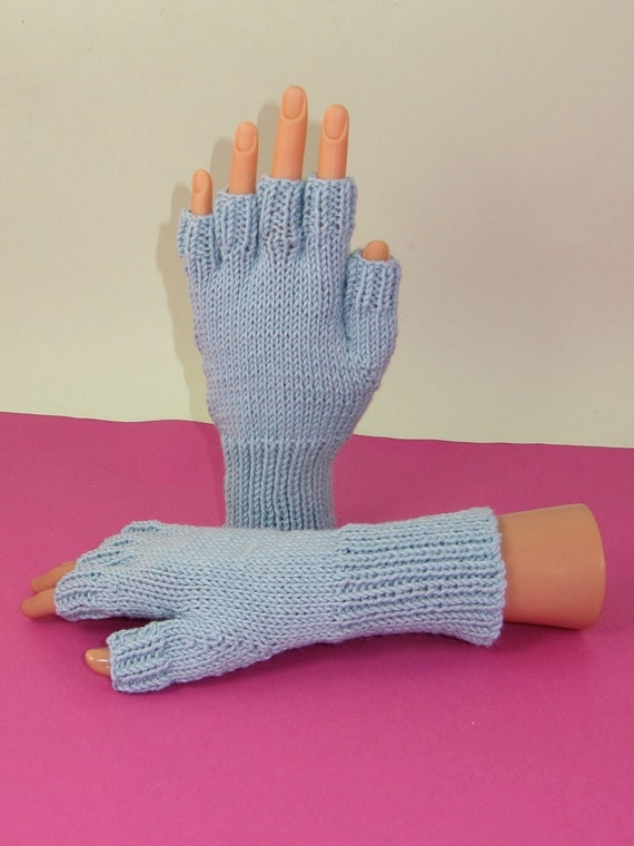 Knitting Pattern For Short Finger Gloves : 40% OFF SALE Digital pdf file knitting pattern- Simple Short Finger Gloves pd...