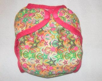 Neon stars Diaper Cover