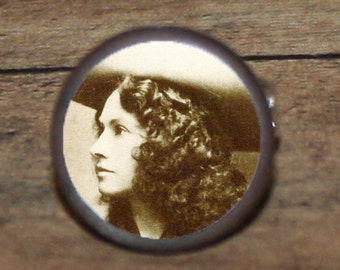 Cowgirl ANNIE OAKLEY tie tack or ring or pendant or pin or cuff links