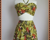 Swell Dame 1950s reproduction playsuit with exotic  print