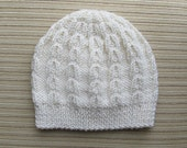 Knitting Pattern #93 Hat in Linked Ribs Stitch in Sizes Child and Adult
