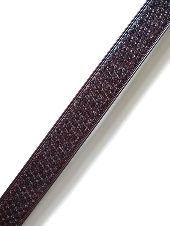 "Handmade Box Stamped 2"" Leather Guitar Strap"
