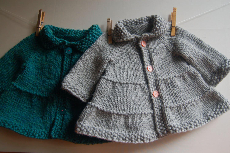 Tricot Knitting Patterns Coat Pdf Knitting Pattern