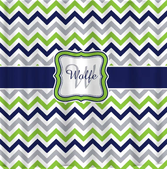 Like This Item Shower Curtain Multi Color Lime Navy Gray And White