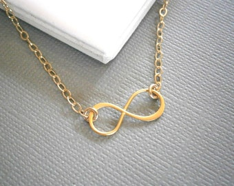 Infinity Necklace, Infinite Love, Gold Necklace, Gifts Under 30, Best Friend Birthday, Layering Necklace