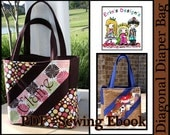 Diagonal Diaper Bag Custom Boutique Sewing Pattern Ebook PDF For Baby or Anyone