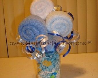 Washcloth Bouquet Gift or Centerpiece