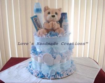 Baby Boy Diaper Cake Blue Precious Moments