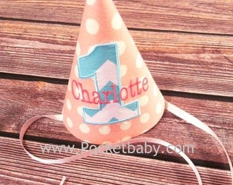 Personalized Birthday Hat - Custom Birthday Hat - You Choose your Fabric - by Pocketbaby