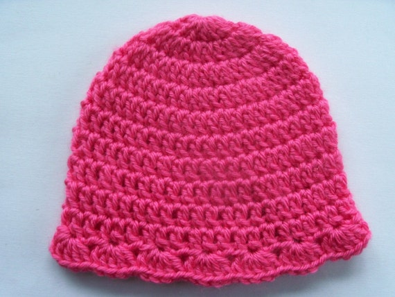 Crochet Baby Hat Pattern Beginner : Easy Crochet Pattern Beginners PDF by PennysBabyBoutique