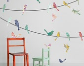 Paisley Birds on a Wire Wall Decals