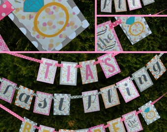 Bachelorette Party Banner Last Fling Before the Ring Fully Assembled Decorations