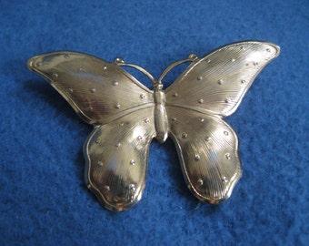 Vintage, 1960s, Golden Butterfly, Brooch