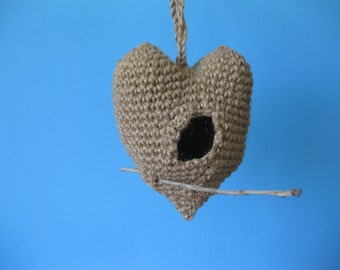 Love Nest Birdhouse Crochet Pattern