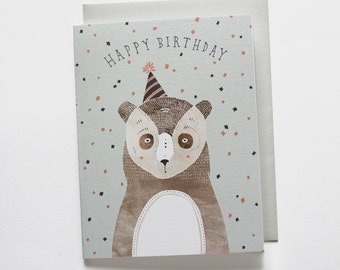 Birthday Bear Card 1 pc