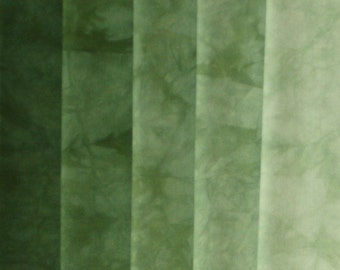 Hand Dyed Fabric Shades - Forest