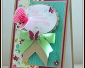 Fantasically Magical Birthday - One Of A Kind Hand Crafted Birthday Card
