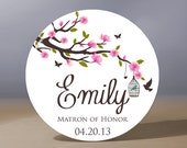 Bridesmaid Gift | Personalized Pocket Mirror | Matron of Honor Gift | Flower Girl Gift | Mother of the Bride Gift | Bridal Shower Favors