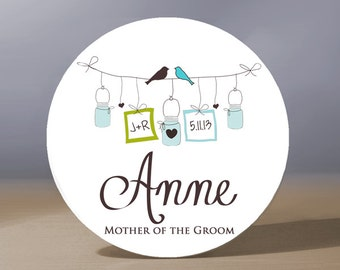 Bridesmaid Gift | Personalized Pocket Mirror | Mother of the Groom Gift | Flower Gift Gift | Maid of Honor Gift | Bridal Shower Favor