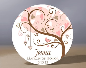 Bridesmaid Gift | Personalized Pocket Mirror | Matron of Honor Gift | Flower Girl Gift | Bride Gift | Wedding Party Gift