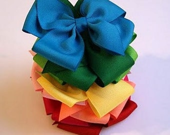 Basic 3 inch Pinwheel Bows Set of 10-Choose from 20 Colors