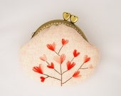 Embroidery Heart Tree Coin Purse