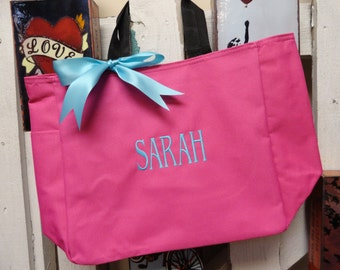 13 Monogrammed Bridesmaid Totes, Personalized Tote Bags, Wedding Party Gift