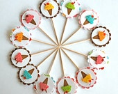 Ice Cream Cones with a Cherry on Top - Cupcake Toppers