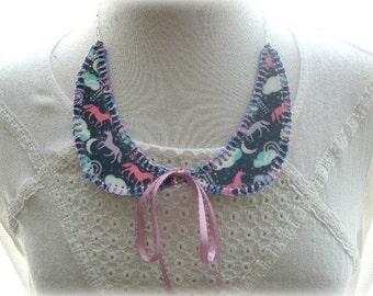 Plastic Unicorn Stitched Collar Necklace