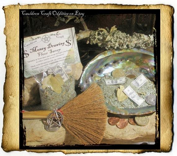Money Drawing Floor Sweep & Spell - Hoodoo ritual salt for luck - 3oz bag