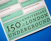 London Wedding Card - Letterpress