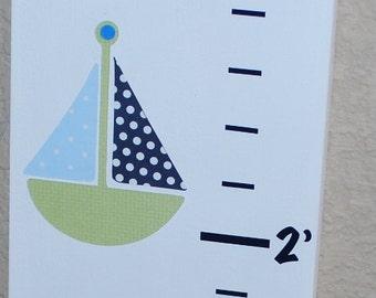 Personalized Wood Growth Chart . Nautica Zachary . Anthony . Nautical theme