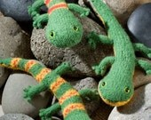 Zerd the Lizard PDF knitting pattern
