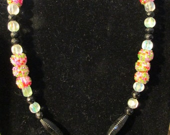 Necklace - Multicolor and Black N0065