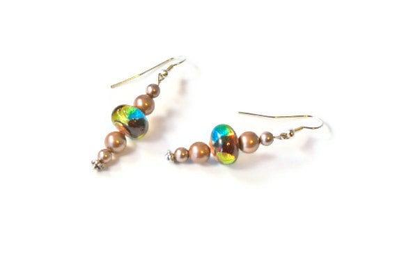 Bronze Magnetic Hematite Earrings, Magnetic Jewelry, Dangle Earrings, Healing Jewelry