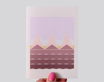 Geometric Fields Print Greeting Card