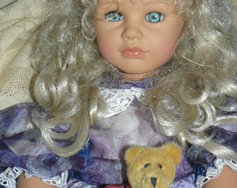 "Fabulous Large 28"" Vintage Vinyl Doll Made in Italy Marked Z Looks Like Barefoot Children"