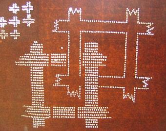 Vintage Japanese Katagami Stencil Unique Design